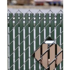 5' Chain Link Fence Option Lock Privacy Slats
