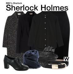 """""""BBC's Sherlock"""" by wearwhatyouwatch ❤ liked on Polyvore featuring Alexander McQueen, Chloé, Maesta, The Row, Dents, DESTIN, television and wearwhatyouwatch"""