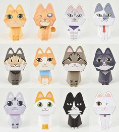 The Purring Quest - Lots of Cat Paper Toys Free Templates Download