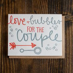 Love + Bubbles by 9th Letter Press