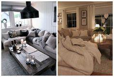 salon rustique chic - Recherche Google Salon Style, Laminate Flooring, Rustic Design, Home Remodeling, Farmhouse, Couch, Furniture, Beautiful, Recherche Google