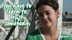 Words of wisdom. | The Fosters GIFs