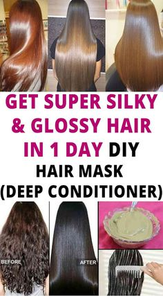 Get super silky & glossy hair in 1 day Hair Mask For Damaged Hair, Best Hair Mask, Dull Hair, Damaged Hair Repair, Hair Masks, Diy Hair Repair Mask, Hair Remedies For Growth, Hair Growth Treatment, Dry Hair Remedies