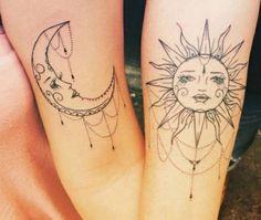 Sol e lua em tatuagens | Sovaco de Sapo