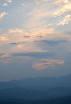 The first clouds we'd seen on our trip - Delphi, Greece.