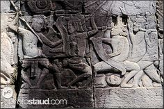 Bas relief at the Bayon Temple showing Khmer warriors, Angkor Thom, Cambodia War Elephant, Religion, 4 Tattoo, Sculpture, Angkor, New England, Warriors, Egypt, Buddha