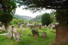 Glendalough cemetery. Ireland