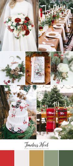 Timeless Noel - Classic Christmas Wedding Inspiration Board