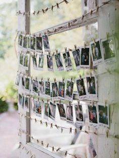 Polaroid guestbook #unusual #wedding #guestbook