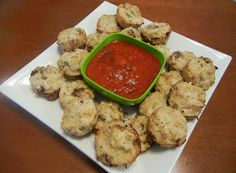 Shelly's Italian Chicken Parmesan Nuggets - Would be great for a #Christmas party #appetizer