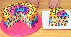 Make This Stunning Rainbow Leopard Cake