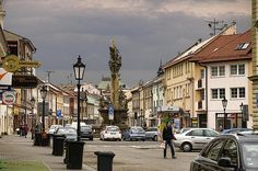 Downtown Kromeriz by Robert Culver Czech Republic, Prague, Cities, Street View, Neon, Wall Art, Signs, Artist, Shop Signs