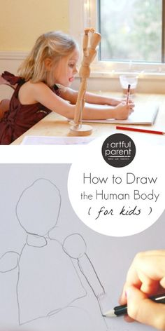 Drawing the Human Body for Kids - Tips and ideas for helping kids learn to see and draw people.