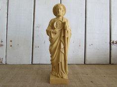 Plastic/Resin Large St. Jude Statue, Vintage St. Jude Statue, Vintage Statues, Vintage Religious Icons, Religious Items, Religious Icons, by OpenTwentyFourSeven on Etsy