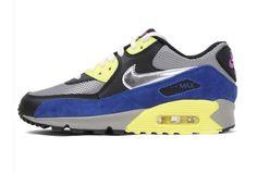 brand new 73593 22b32 Nike Air Max 90 Essential Para Hombre Zapatos De Color Antracita, Plata,  Azul, Amarillo Púrpura1bEL3F 1
