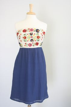 Gorgeous Missy Robertson Embroidered Strapless Dress | www.in-high-cotton.com