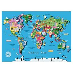 Eurographics Pc Antique World Map Jigsaw Puzzle Multicolor - Ravensburger satellite world map puzzle