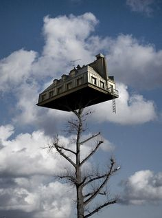 ♂ Dream imagination surrealism fantasy house on the tree top