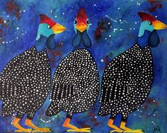 line drawing guinea hen - Google Search