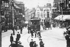 Trams in Wigan, Lancashire UK