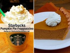 Starbucks Pumpkin Pie Frappuccino! #StarbucksSecretMenu Recipe here: http://starbuckssecretmenu.net/starbucks-secret-menu-pumpkin-pie-frappuccino/