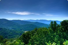 Blue Ridge Mountains of North Carolina at the Eastern Continental Divide