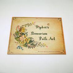 Vintage Book Pipka's Bavarian Folk Art Rare Farmhouse Painted Furniture by efinegifts on Etsy