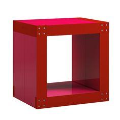 #Table d'appoint #rouge et rouge framboise #chevet bout de #canapé
