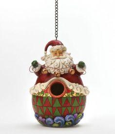 Christmas: Jim Shore Santa Claus Birdhouse