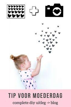Met deze hartjes maak je zelf een fotocadeau. Meer uitleg lees je op het blog. Leuk voor vaderdag, moederdag of een cadeau voor opa of oma. Activities, Blog, School, Seeds, Blogging, Schools