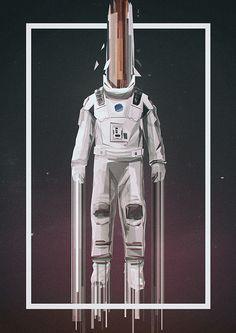 Interstellar Poster by Martin Nebelek on Behance