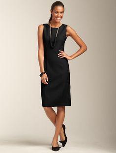 Talbots - Italian Stretch Flannel Sheath | Dresses | Misses
