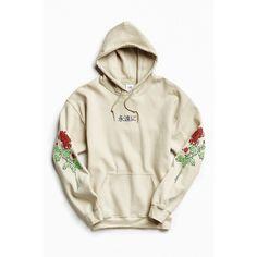 Floral Days Hoodie Sweatshirt ($54) ❤ liked on Polyvore featuring tops, hoodies, white hooded sweatshirt, graphic hoodie, hooded pullover sweatshirt, white hoodie and white hoodies