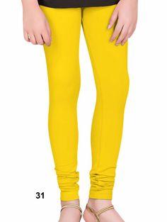 Yellow 4 Way Cotton Leggins