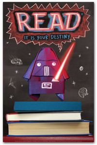 Darth Paper Poster - Bestsellers - Posters - Products for Young Adults - ALA Store Star Wars Origami, Library Posters, Reading Posters, Origami Yoda Book, Reading Display, Middle School Libraries, Quotes For Book Lovers, Inspirational Posters, Library Displays