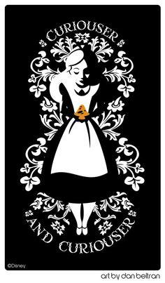 Great print from the Disney version of Alice in Wonderland. #AliceinWonderland #TeaParty #MadHatter #Wonderland