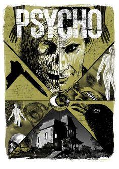 Psycho (1960) art poster