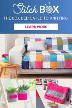 Maille Box, LA box dédiée a tricot Beginner Knitting Patterns, Chunky Knitting Patterns, Baby Hats Knitting, Loom Knitting, Stitch Box, Driveway Design, Granny Square Blanket, Paper Crafts For Kids, Yarn Needle