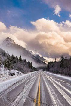 Road in Alberta, Canada.