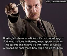 Rowlings Pottermore article on Remus backstory...