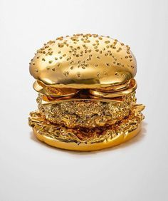 Golden Burger by Thomas Hannich and Arndt von Hoff #gold