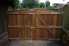 Fence Gate - General Woodworking Talk - Wood Talk Online Drive Gates, Make A Door, Driveway Entrance, Electric Gates, Fence Gate, Shed, Woodworking, Backyard, Outdoor Structures