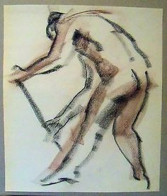 "#""gesture sketch 3"" by ruth freeman #conte #sticks 17"" x 20 1/4"",  View more on the LINK: 	http://www.zeppy.io/product/gb/2/171324167170/"