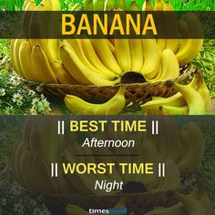 When to eat banana | Best and Worst time to eat banana and some common fruits | Right time to eat fruits | Best time to Eat Fruits in a day| via Timeshood.com