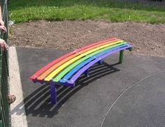"""Rainbow Bench"" via the British company Lightmain"