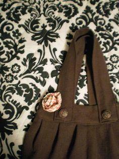 Brown Button Bag Tutorial - PURSES, BAGS, WALLETS