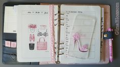 the blossom's place: Filofaxing Kikki K Dekoration KW 23 - Pink Lady Shoe Pumps High Heel