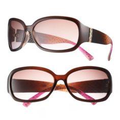 daisy fuentes Textured Rectangle Wrap Sunglasses - Women