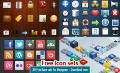 30 Free Icon sets for graphic and web designers - Download now. Read full article: http://webneel.com/webneel/blog/30-free-icon-sets-graphic-and-web-designers-download-now | more http://webneel.com/icon-design | Follow us www.pinterest.com/webneel
