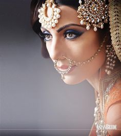 bridal jewelry for the radiant bride Pakistani Bridal, Indian Bridal, Hena, Asian Bridal Makeup, Bridal Beauty, Indian Nose Ring, Nose Jewelry, Beauty Shoot, Asian Bride